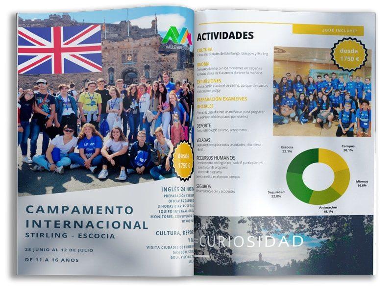campamentos de verano internacional idiomas Escocia